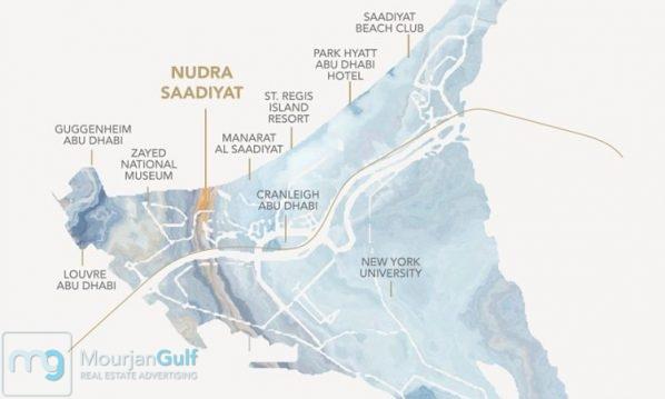 Nudra Saadiyat Location Map 1