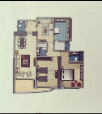 شقة للبيع برج الاساس غرفتين وصالة